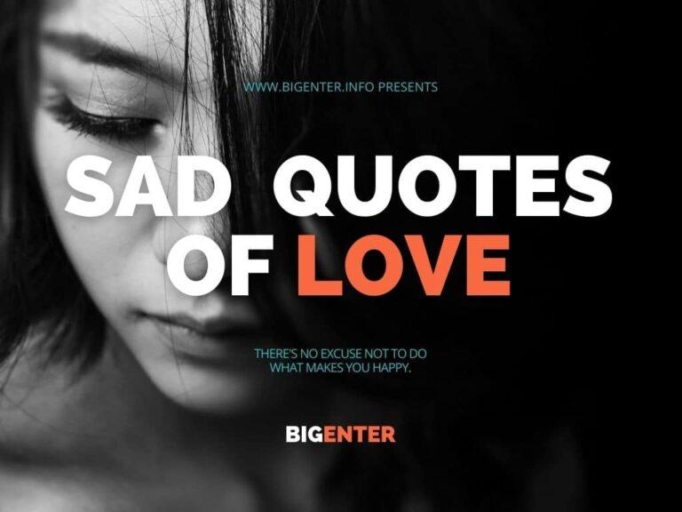 sad quotes of love