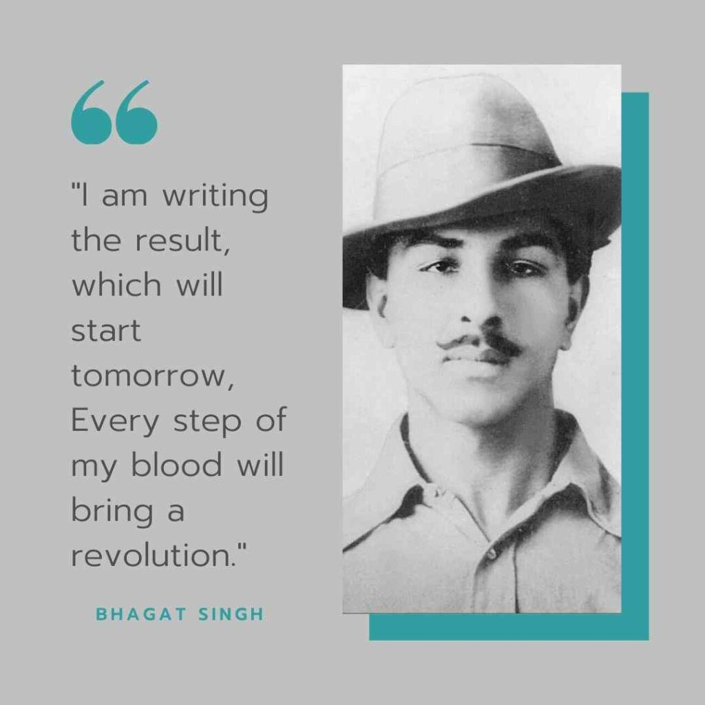 Bhagat Singh Quotes about revolution