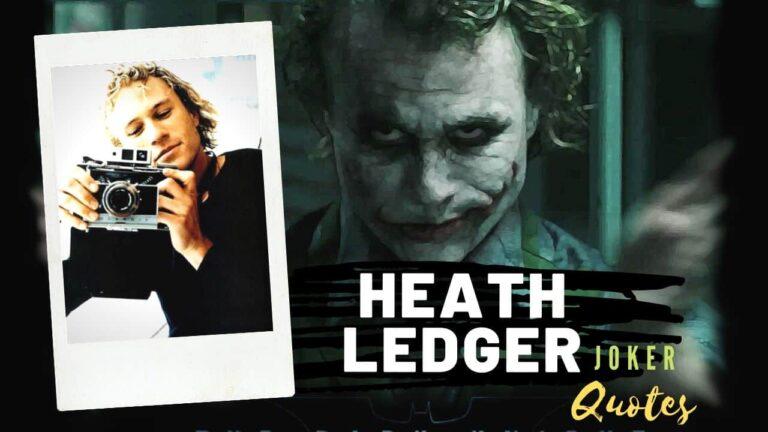 Heath Ledger Joker Quotes