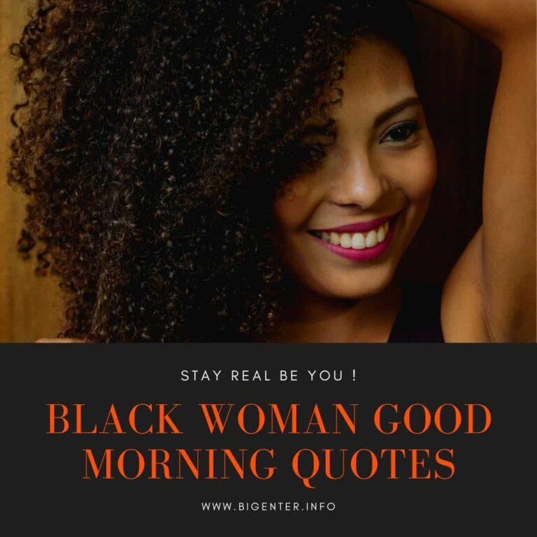 black woman good morning quotes