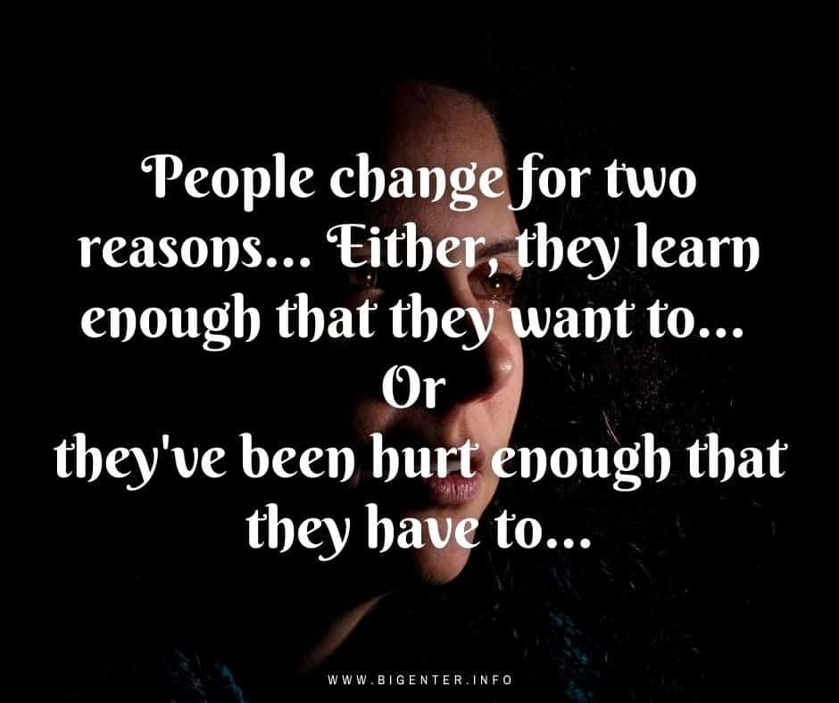 Quotes on Change in Behavior