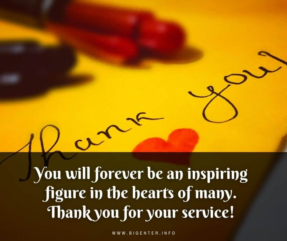 Thank you and Goodbye Quotes