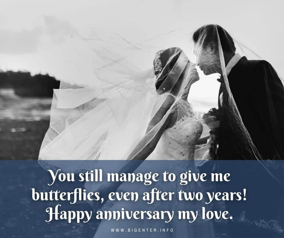 2nd Anniversary Wishes