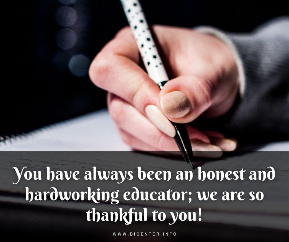 Thank You Letter to Retiring Teacher