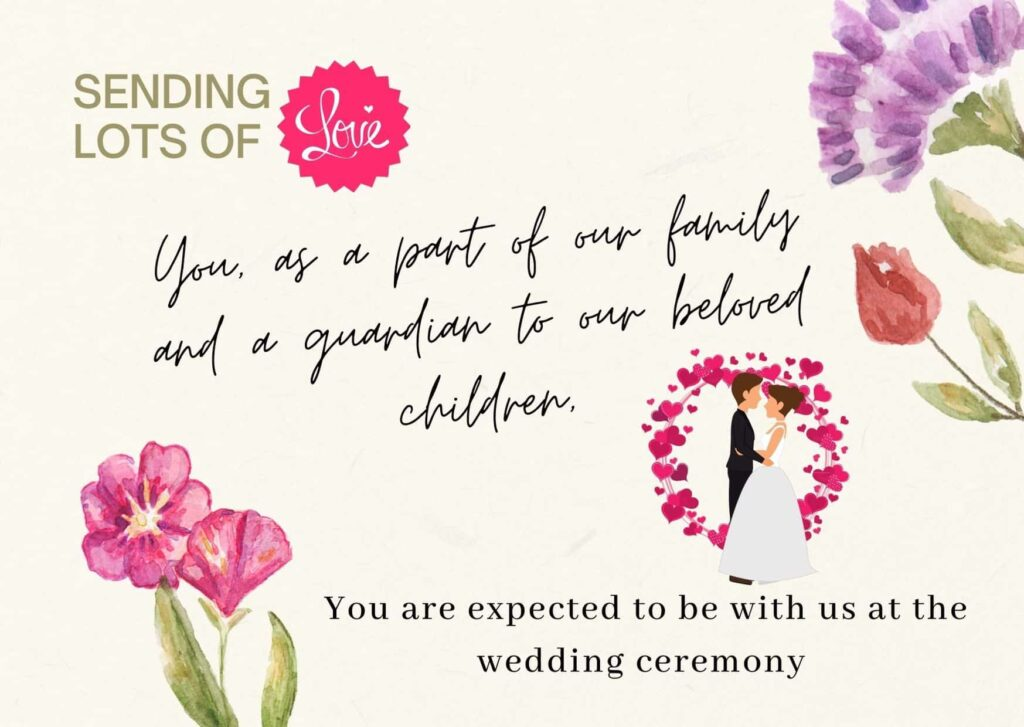 Wedding Invitation Quotes From Parents