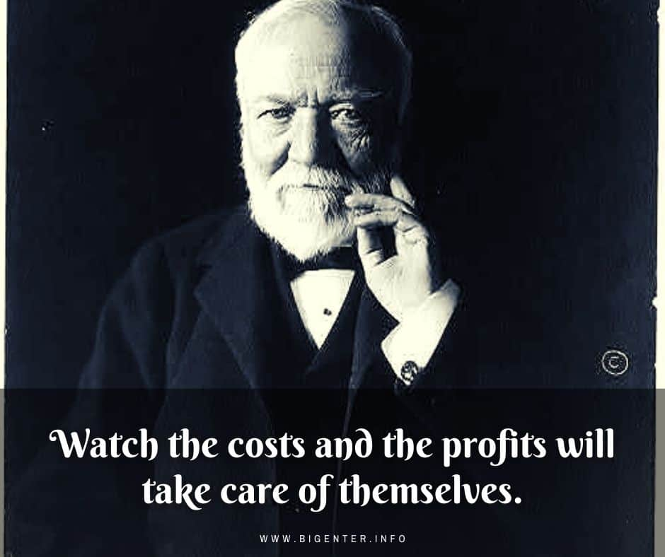Andrew Carnegie Negative Quotes