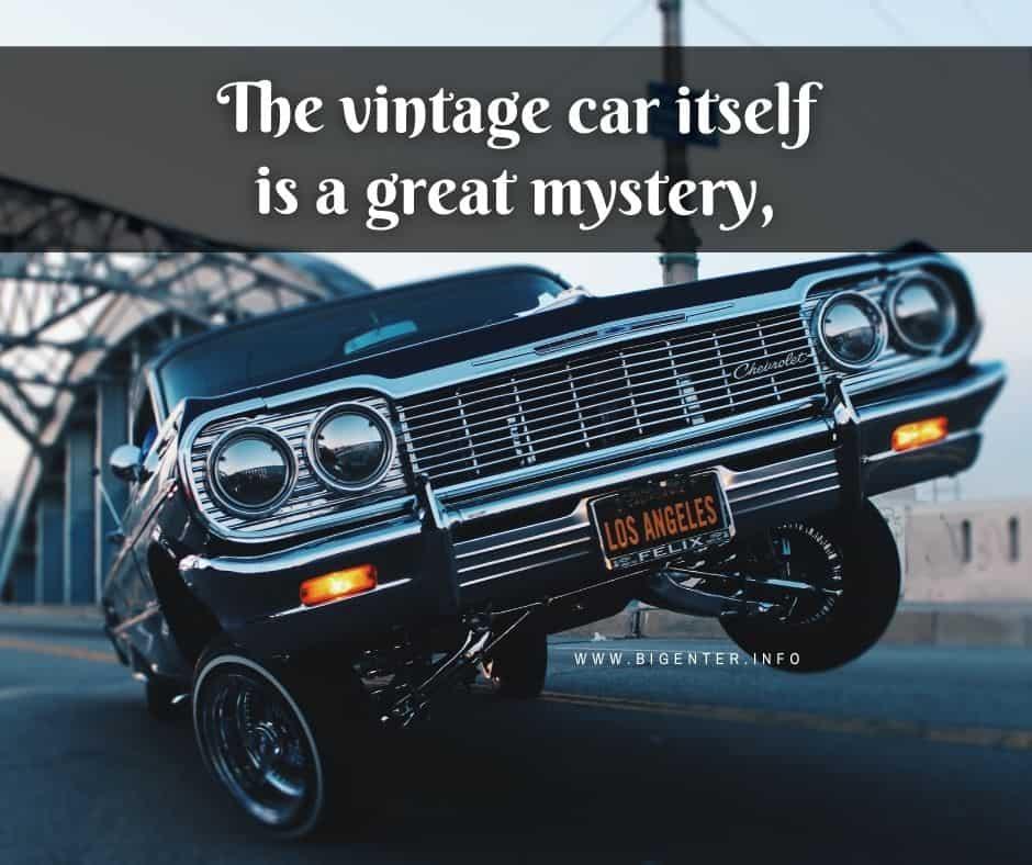 Vintage Car Quotes