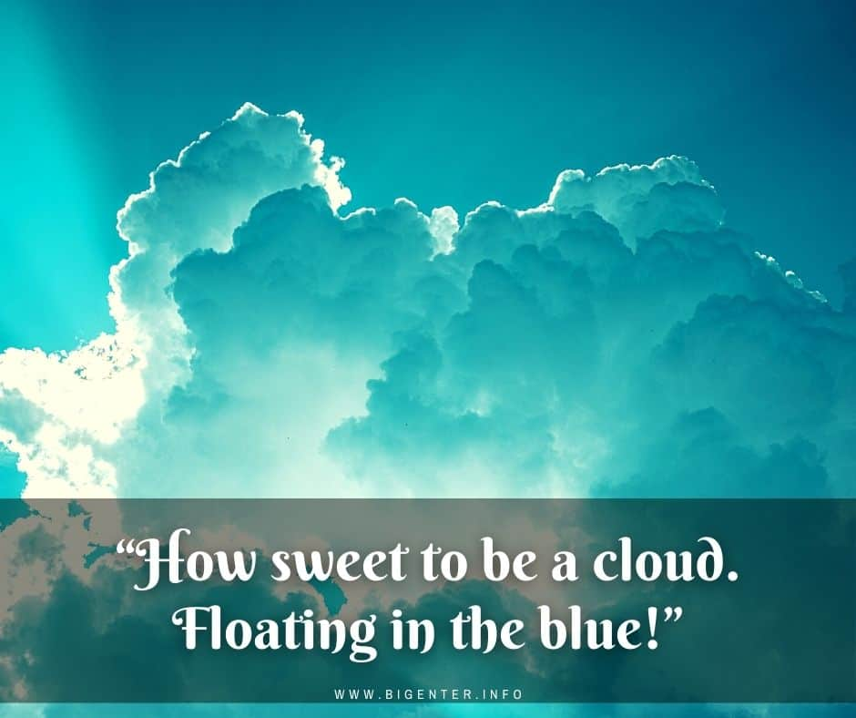 Cloud Quotes for Instagram