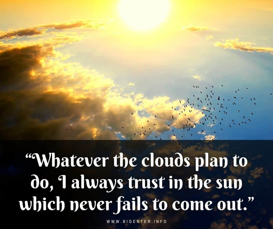 Cloud Quotes About Life