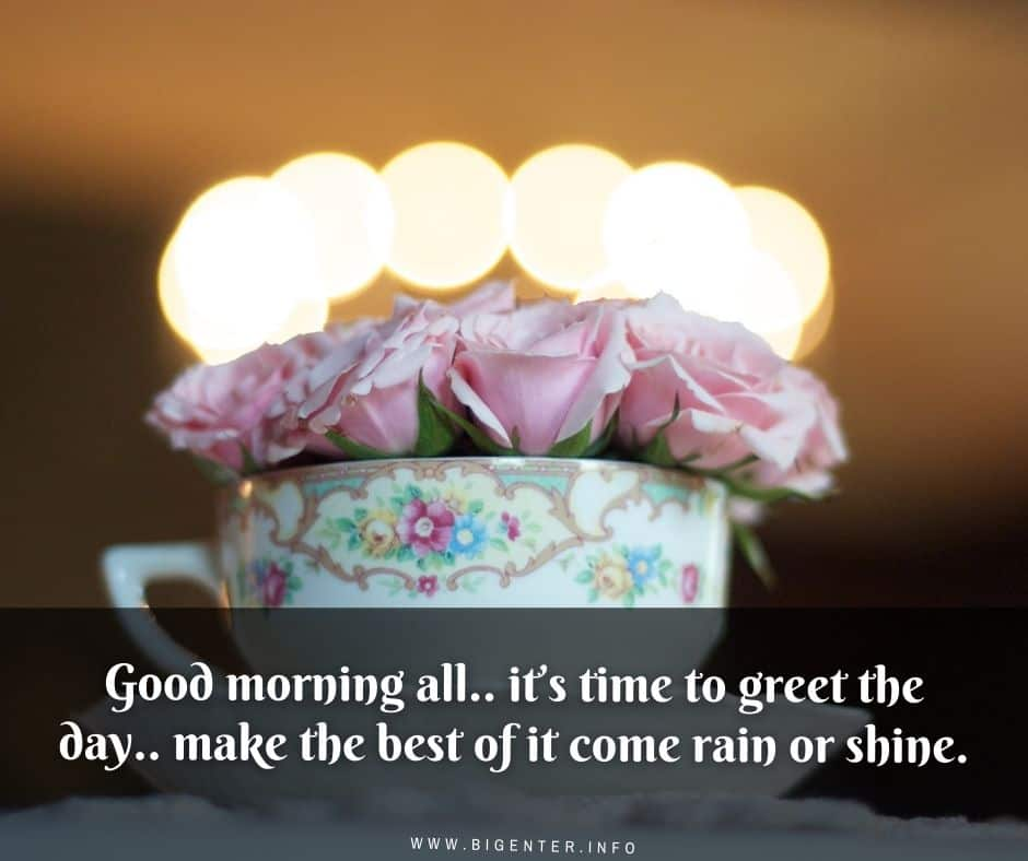 Good Morning Status in English