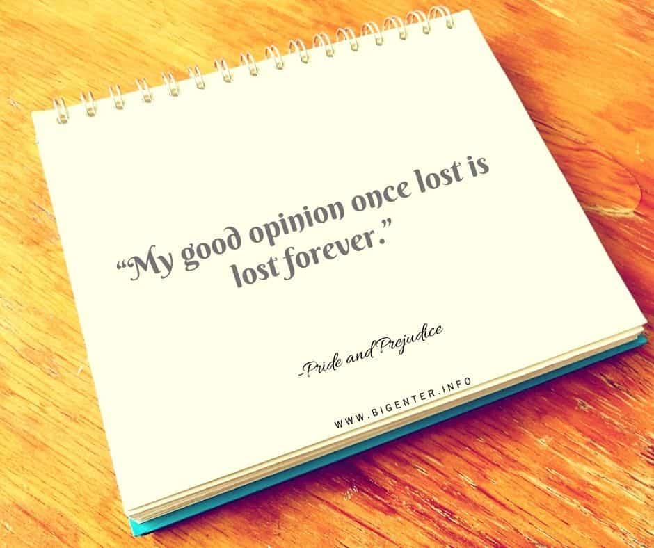 Best Quotes of Pride And  Prejudice