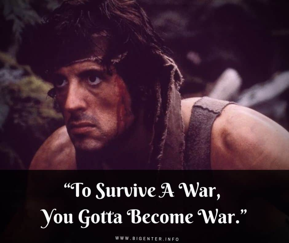 Rambo Quotes About War