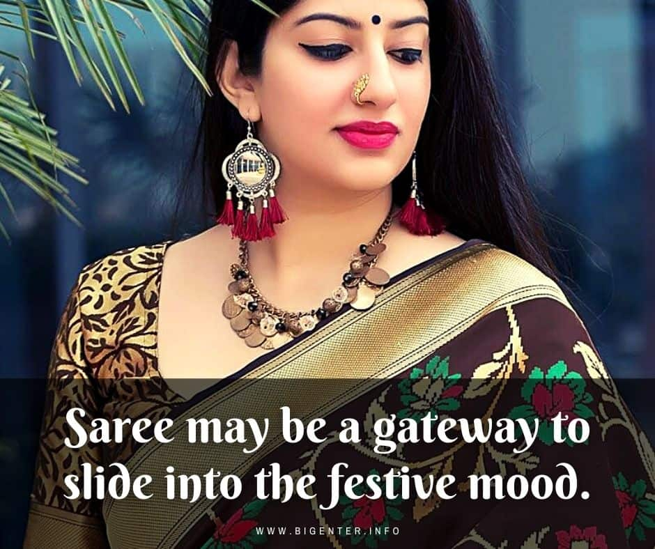Saree Aesthetic Quotes