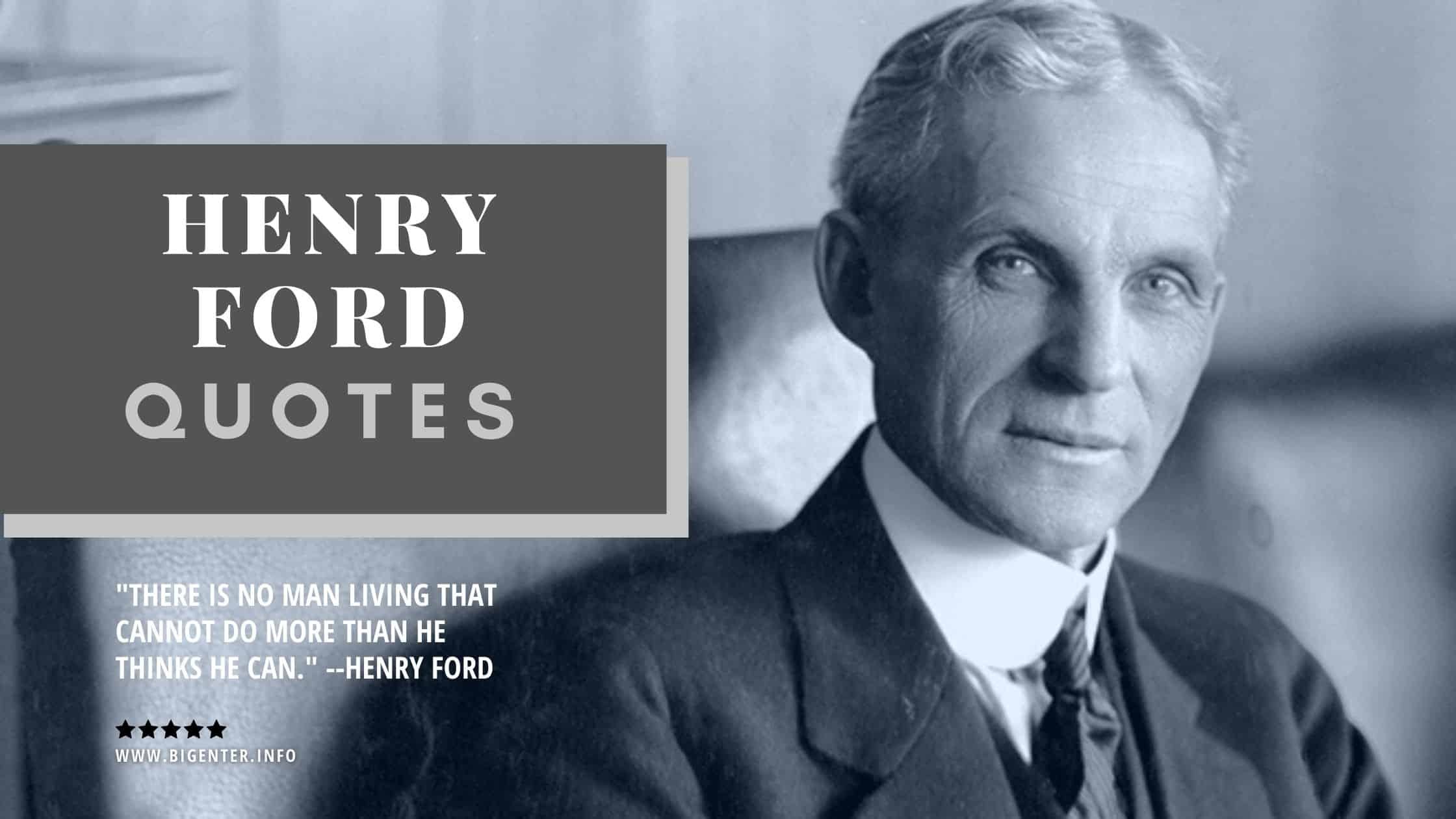 Famous Henry Ford Quotes