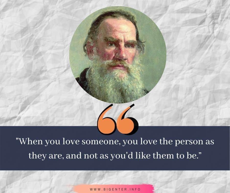 Leo Tolstoy Quotes on Love