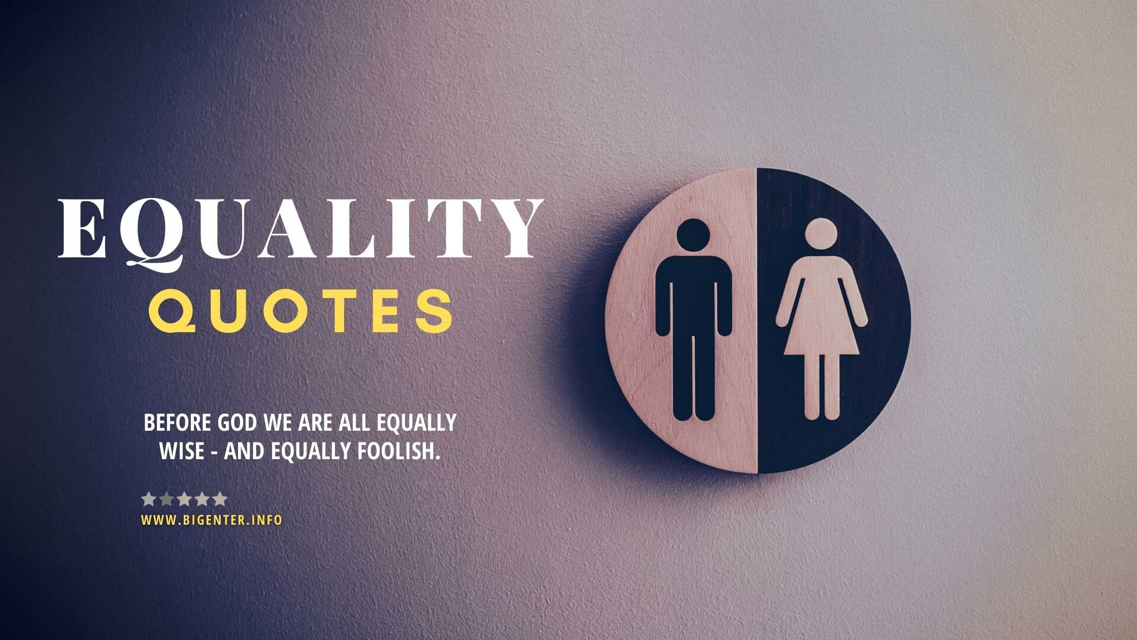 Quotes for Equality