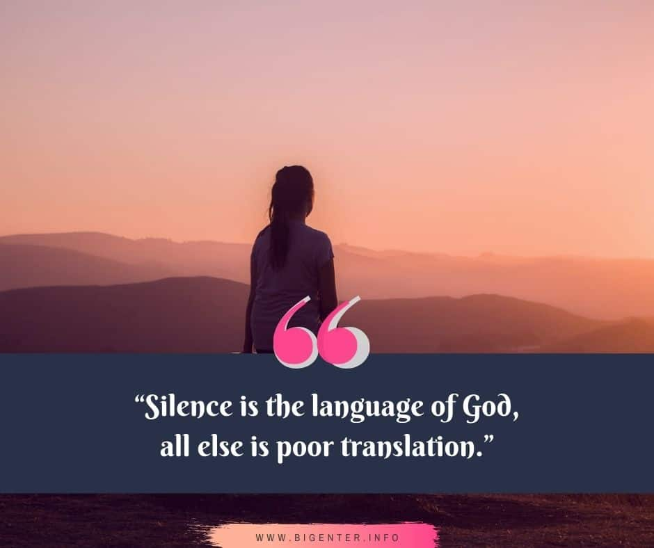 Inspirational Quotes on Silence