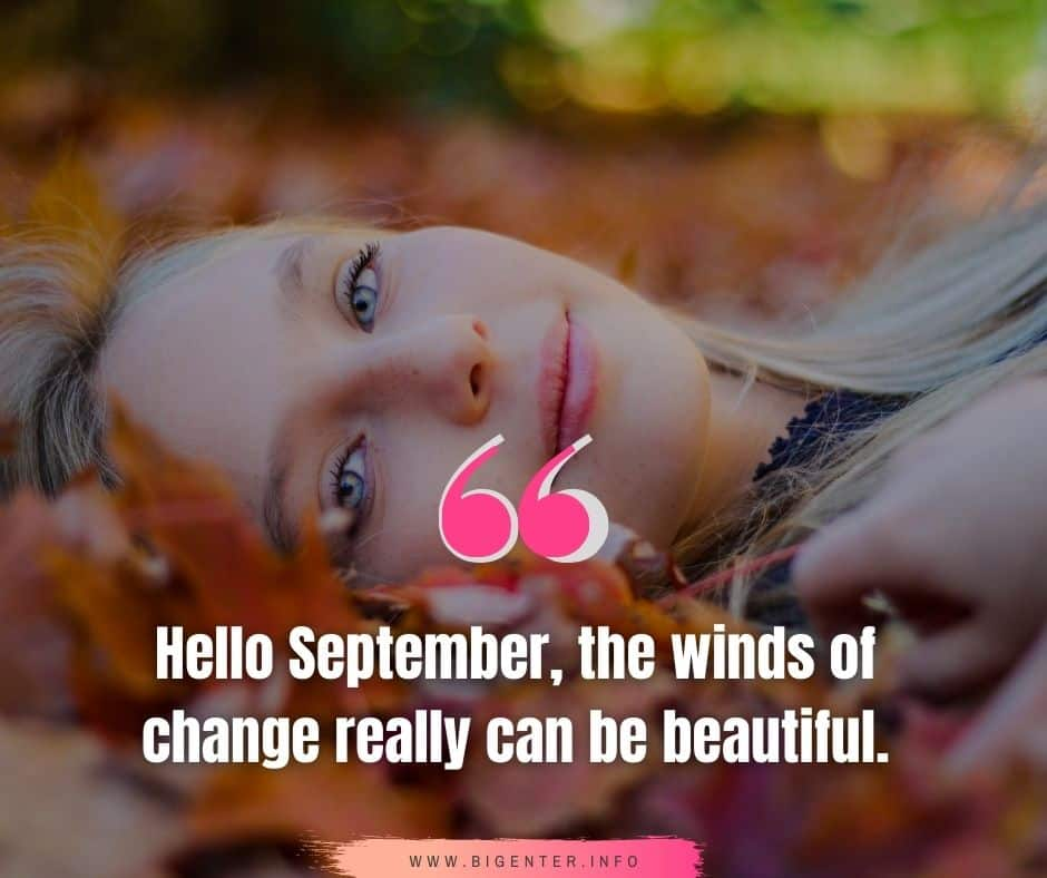 September Quotes Inspirational
