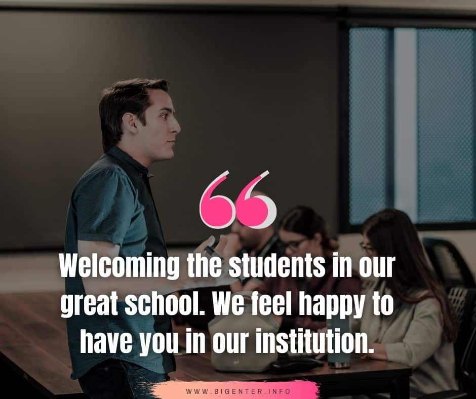 Welcome Quotes for Freshers