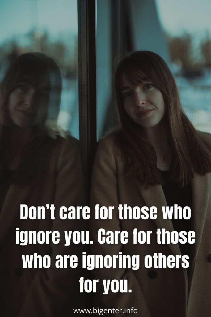Ignoring Quotes in Life