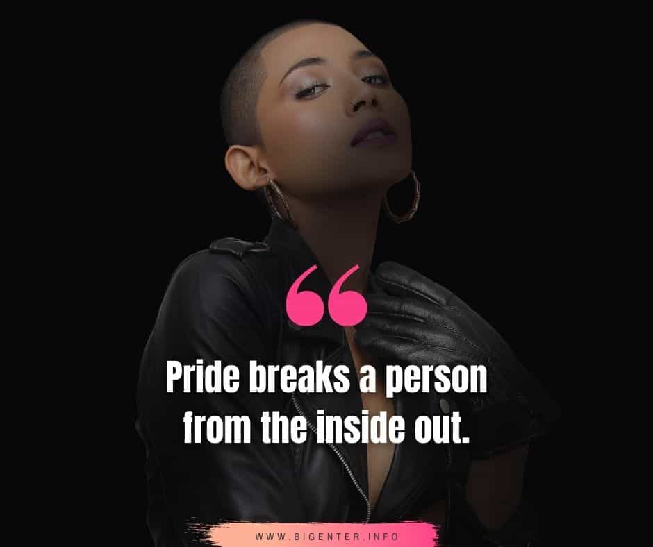 Pride Quotes in Relationships