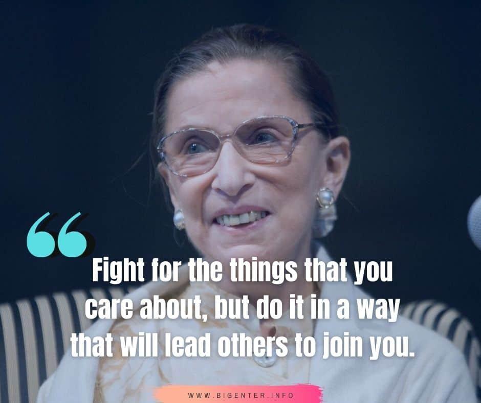 Ruth Bader Ginsburg Inspirational Quotes