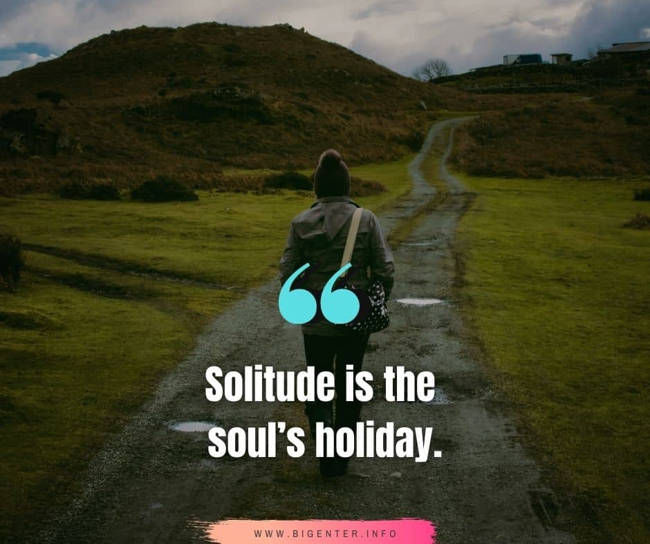 Solitude is Bliss Quotes