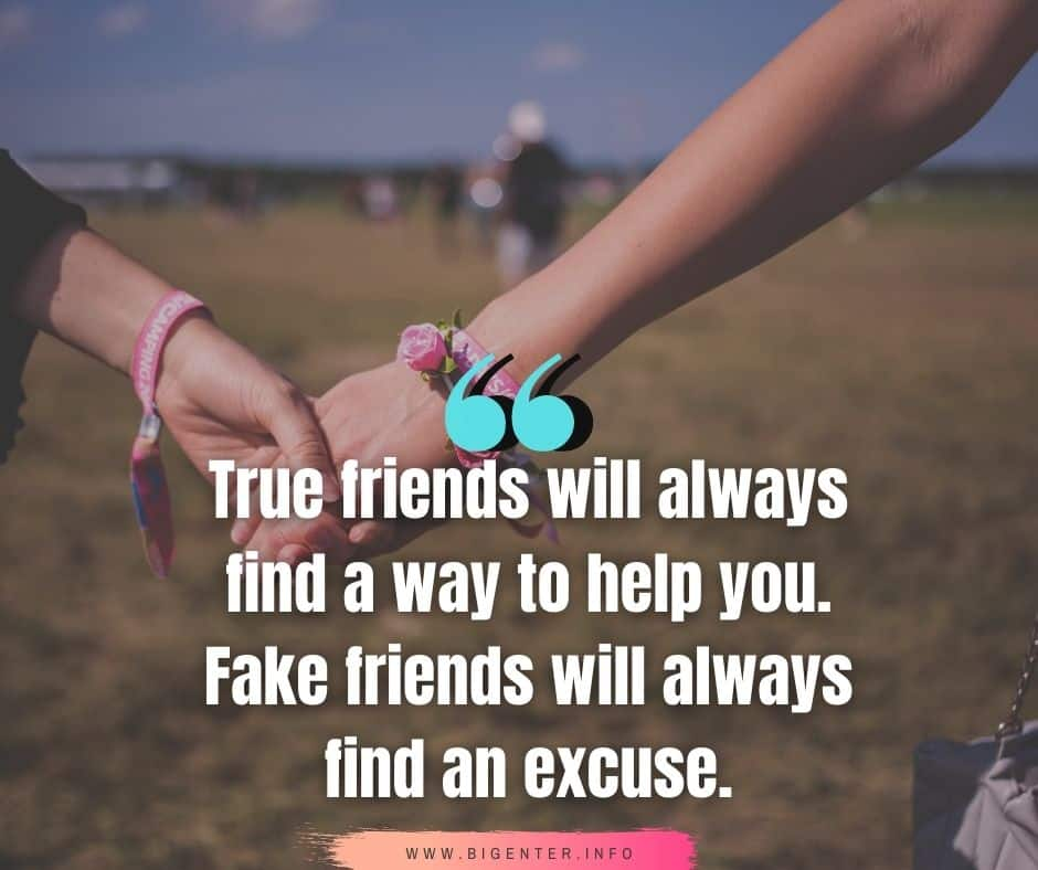Good and Bad Friends Quotes