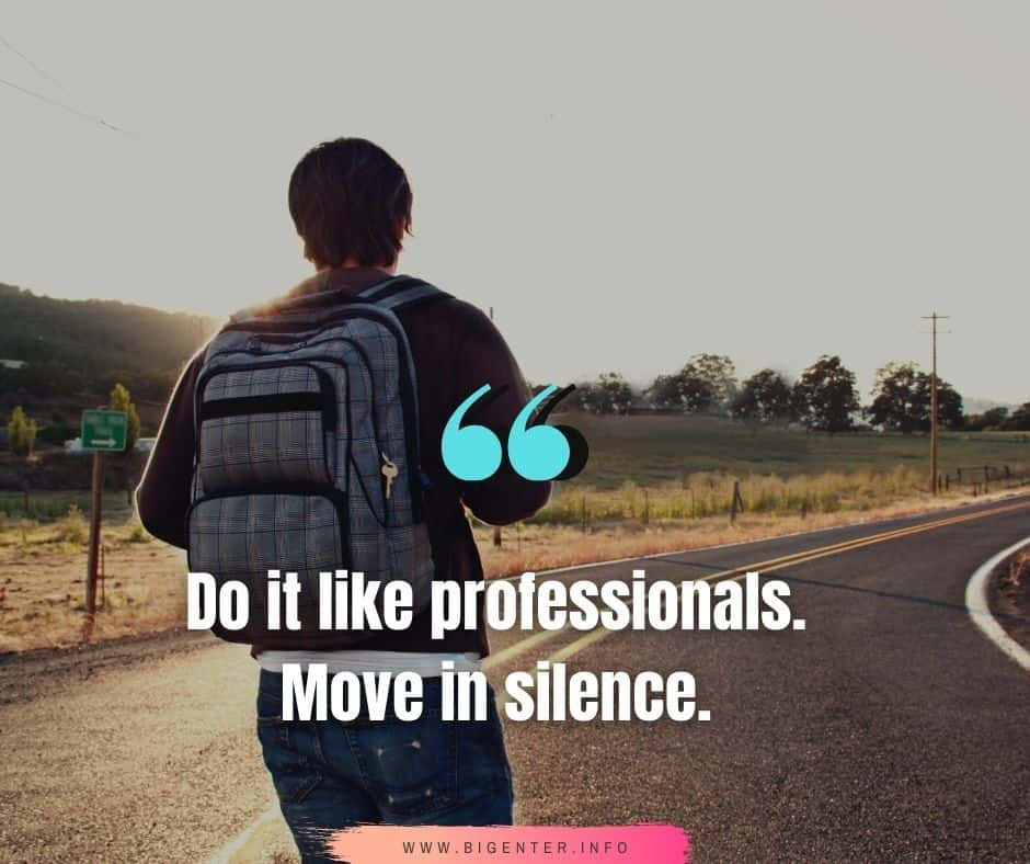 Work in Silence Quotes